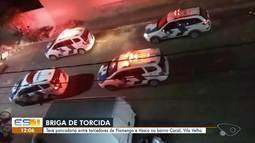 Torcedores se envolvem em briga durante a exibição da final da Taça Rio, em Vila Velha