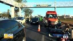 Acidente complica trânsito na BR-060, em Goiânia