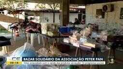 Associação Peter Pan faz bazar solidário