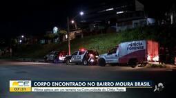 Corpo é encontrado no bairro Moura Brasil
