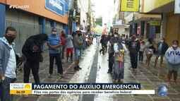 Agências da Caixa Econômica Federal amanhecem com filas em várias cidades baianas