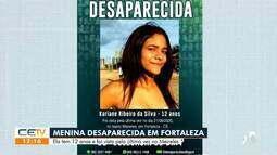 Menina de 12 anos está desaparecida desde a última segunda-feira