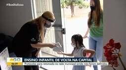 Prefeitura de Goiânia autoriza retomada das aulas presenciais no ensino infantil