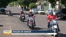 Grupo de motociclistas faz comboio em encerramento de campanha