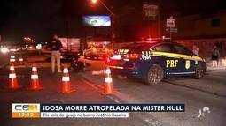 Idosa morre atropelada na Avenida Mister Hull, em Fortaleza