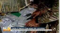 Casal é preso com 86 quilos de maconha