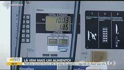 Combustíveis sofrem novo aumento em Goiás