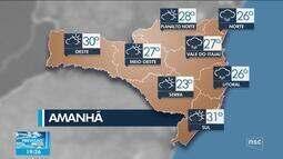 Confira a previsão do tempo para SC