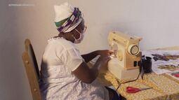 A costureira Jôice Cleide conta por quê decidiu se arriscar no ramo de corte e costura