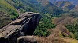 Montanhas de Paracambi guardam paisagens incríveis, como a Pedra do Gavião