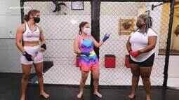 Pavloka: Jamile convida Letícia, da Sambalê, para praticar boxe com a atleta Eduarda Moura