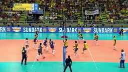 4º set: E aí? Colômbia abre três pontos com falha boba do Brasil 11x14