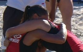 Melhores momentos: Flamengo 2x0 So Paulo na final feminina da Liga Nacional de futevlei