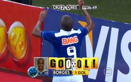 GOOL DO CRUZEIRO! Depois de cabeada de Nilton, aos 36&#x27;, o oportunista Borges marca