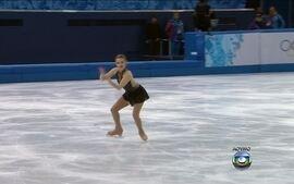 Brasileira Isadora Williams se apresenta nas olimpíadas de Inverno, em Sochi