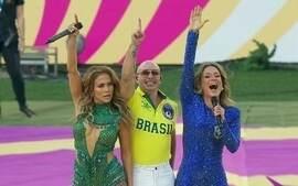 Claudia Leitte, Jennifer Lopez e Pitbull cantam a música da Copa do Mundo