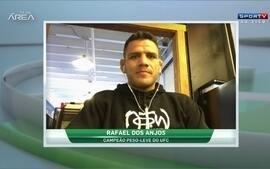 """Rafael dos Anjos fala sobre defesa do cinturão do peso-leve UFC: """"Estava com pressão sim"""""""