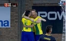Os gols de Brasil 14 x 0 Equador pelas Eliminatórias da Copa do Mundo de Futsal