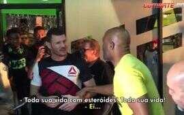 Anderson Silva e Michael Bisping trocam provocações em Media Day do UFC
