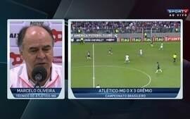 Marcelo Oliveira analisa derrota por 3 a 0 para o Grêmio