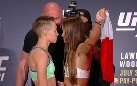 Pesagem UFC 201 - Namajunas x Kowalkiewicz