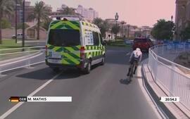 Ambulância quase atropela alemão durante prova do Mundial de Ciclismo sub-23