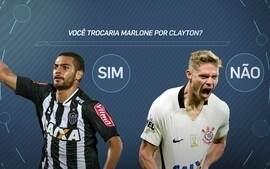 Comentaristas debatem troca entre Corinthians e Atlético-MG de Marlone por Clayton