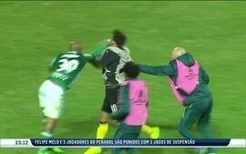 Conmebol suspende provisoriamente Felipe Melo e mais três uruguaios por briga