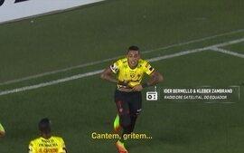 Redação AM - Confira a narração do gol do Barcelona de Guayaquil sobre o Santos