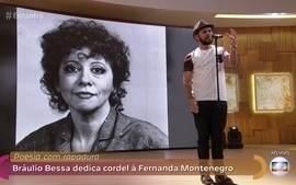 Bráulio Bessa faz cordel em homenagem a Fernanda Montenegro
