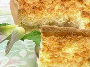 Torta de Coco Com Abacaxi - Foto de Mais Você na TV