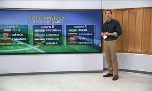 Sorteados os grupos da Copa América 2015