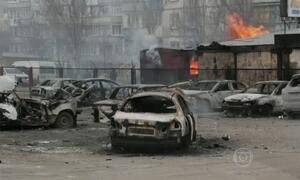 Dez pessoas morrem em um bombardeio na Ucrânia