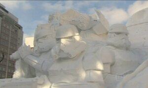 Japão realiza o maior festival de gelo e neve do país