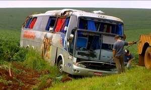 Acidente de ônibus deixa 40 feridos em Saranduva (RS)