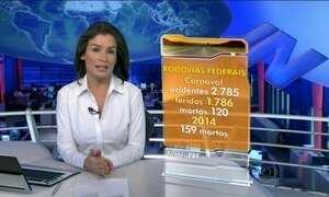 Cai número de acidentes e mortos nas rodovias durante carnaval