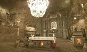 Polônia possui catedral feita de  sal a 327 metros de profundidade