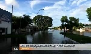 Argentina enfrenta inundações recordes