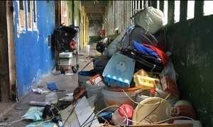 Presos comandam destruição dentro e fora de presídios rebelados no RN