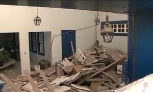 Bandidos destroem agência do Banco do Brasil na Bahia