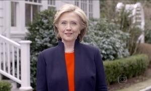 Hillary Clinton anuncia que quer disputar a presidência dos EUA