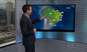 Norte do país pode ter mais chuva nesta segunda-feira (11)