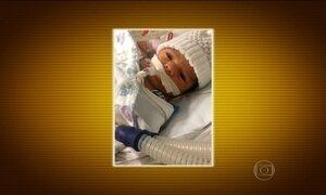 Bebê que nasceu sem metade do coração vai continuar tratamento em SP