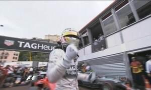 Hamilton comemora primeira pole no GP de Mônaco