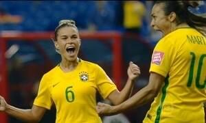 Seleção brasileira estreia com vitória no Mundial do Canadá