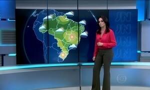 Previsão é de chuva para boa parte do país no domingo (5)