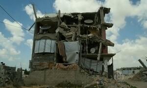 Nenhuma casa foi reconstruída na Faixa de Gaza depois de conflito