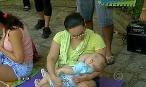 Ações programadas para a semana incentivam o aleitamento materno