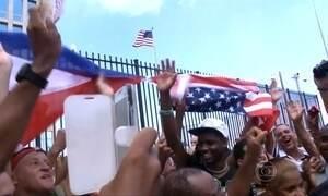 EUA reabrem embaixada em Cuba depois de 54 anos de rompimento