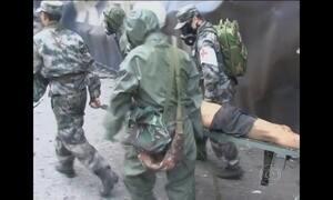 Homem é encontrado vivo em escombros de explosão na China